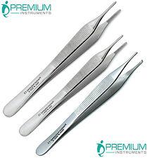 Surgical Forceps Tissue Dressing Adson Tweezers 12cm 15cm Kocher 1x2 Set Of 3