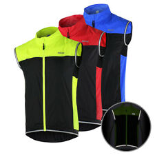 Sports Vest Men Women Unisex Sleeveless Reflective Zipper Running Useful