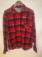 Vans  Corduroy Red Flannel Shirt Sz Med