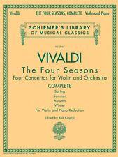 Antonio Vivaldi The Four Seasons Complete for Violin and Piano Reducti 050485535