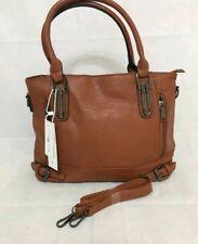 NICOLE & DORIS Women Shoulder Bag Tote /Handbag Messenger Bag PU Leather Brown