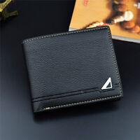 Soft Wallet Men's Wallet Men's Purse Coin Purse Change PU Leather Short Wallet