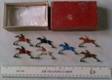 SET RED BOX) 7 SPARE HORSES FOR A HORSE RACING GAME