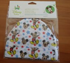 MICKEY MOUSE W/MULTI-COLOR HEARTS INFANT CAP /MADE BY DISNEY / 100% COTTON/ SOFT