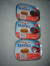 Chicken of the Sea Sardines in Genuine Louisiana Hot Sauce 3 Tins of 3.75 Each.