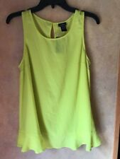 Torrid Plus Size Lime Georgette Ruffle Tank Size 00 New With Tags