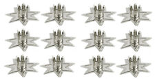 """12 pc Metal 7-Pointed Fairy Star Holders for 1/2""""W Chime Vigil Candles - Silver"""