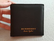 Burberry Trench Leather Bifold Men Black wallet, New with box