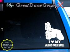 I Love My American Cocker Spaniel - Vinyl Decal Sticker / Color Choice-High Qual