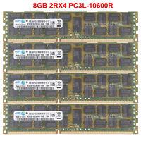 PC3-10600R DDR3 ECC Reg Server Memory RAM for Intel S2600CP4 32GB 4x8GB