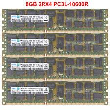 Para Samsung 8GB 2Rx4 PC3L-10600R DDR3-1333MHz módulo de memoria de servidor de código error-correcting Reg