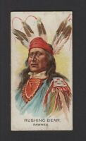 1888 Allen & Ginter N2 Celebrated American Indian Chiefs Rushing Bear