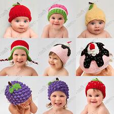 Baby Fruit Beanie Girl Boy Crochet Knit Hat Costume Newborn Toddler PhotoProp AU