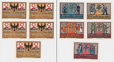 5 Banknoten Notgeld Tausendjahrfeier Goslar 1922 mit Originalhülle (119640)