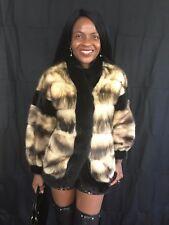 Designer reversible sable black color Mink & Fitch Fur Coat Jacket stroller S 6