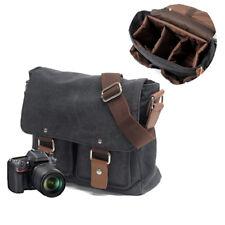 Mens Vintage Canvas Camera Bag Shoulder Messenger for Canon Sony SLR Nikon DSLR