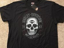 Harley Davidson Web Skull black Shirt Nwt Men's XL
