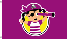 Little Pirate Princess Children's Birthday Party Banner 5'x3' Flag