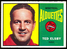 1964 TOPPS CFL FOOTBALL 48 TED ELSBY NM MONTREAL ALOUETTES BRANTFORD JR