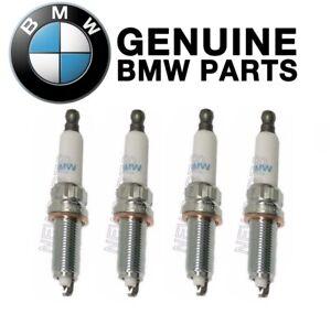For BMW F22 F30 F31 228i 328i 528i Z4 Set of 4 Spark Plugs Genuine 12120039664