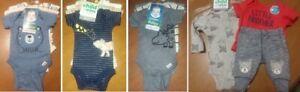 NEW Infant Boys 3pc Sets ~ Preemie & Newborn ~ Gerber Organic ~ Child of Mine