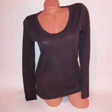 Lou & Grey T Shirt Womens XS Gray Long Sleeve Scoop Neck
