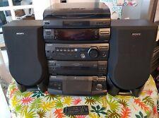Sony HCD-XB3 stereo system hifi record player 5 cd tape