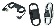Câble USB Porte-Clés Ouvre-Bouteille Noir ~ Connexion Universel Micro USB