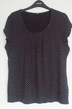 Marks And Spencers Size 12 Black And White Dotted Womens Top