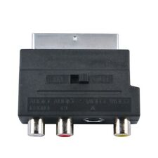 Rgb Scart to Composite Rca S-Video Av Tv Audio Adapter For Video Dvd Recorder Tv