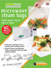 Microwave Oven Vegetable Steam Bags Quick Veg Steaming Quickasteam Medium x 30