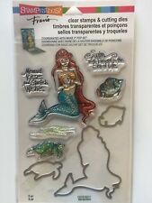 STAMPENDOUS Fran's CLEAR STAMPS & DIE SET MERMAID & FRIENDS CSD18 NEW