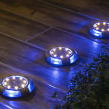 LED Solar Power Ground Lights Floor Decking Patio Outdoor Garden Lawn Path Lamps
