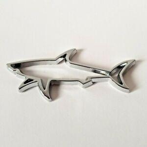 Argent Chrome 3D Métal Grand Blanc Shark Badge Pour Dacia Sandero Duster Mc