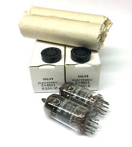 Matched Pair M8136  CV4003 Box Plate NOS Mullard UK Valve Tubes