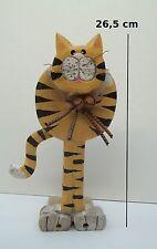 chat en bois, cale porte,collection,décoration ,cat, kat, poes 26,5 cm *Brun