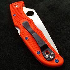 Spyderco Endura 4 ~ (4) Torx Scale Screws ~ Titanium Blue Screws (>>No Knife<<)