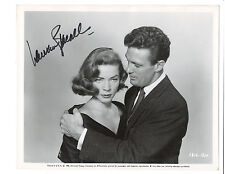 Lauren Bacall Signed Vintage Press Photo Written On the Wind 1956 / Robert Stack
