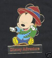 Disney Adventure Tokyo Blue Baby Mickey & Crocodile Pin