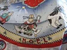 Farm Animals Noel Tree Skirt (Tablecloth) & Ornaments Fabric Panels Cows, Bu