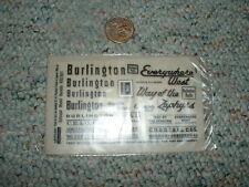 Letraset decals HO Dry transfer K52/8/2 Burlington CBQ Everywhere West her  F162