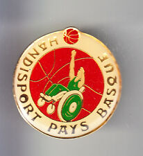 RARE PINS PIN'S .. SPORT HANDICAP HANDISPORT BASKET BALL PAYS BASQUE 64 ~B2