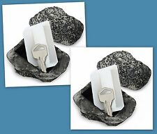 Lot of 2 Hide A Key Outdoor Realistic Rock Stone Hide Spare Key Max Force Tools