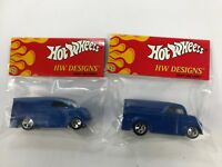 HOT WHEELS HW DESIGNS DAIRY DELIVERY BLUE    LOT OF 2