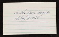 Elon Chief Hogsett (d. 2001) signed autograph Baseball 3x5 Index Card 2079-18