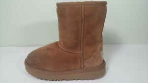 UGG SUEDE SHEEPSKIN BOOTS 7 CHESTNUT CLASSIC II 1017703T TODDLER Size 9