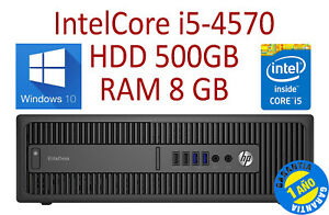 PC HP 800 G1 SFF Core i5-4570 RAM 8GB HDD 500GB W10