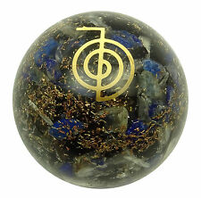 Multi-Color-Reiki-Chakra Symbol Orgon Kugel Ball balancieren,  Edelsteine