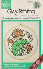 """Gallery Glass Glass Painting Pattern 15203  14"""" Waterlilies and Dragonfly"""