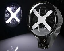 "6""Inch 60W Round White LED Fog Spot Light X DRL Turn Signal Light Offroad Auto"